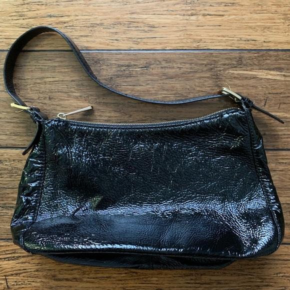 MICHAEL Michael Kors Handbags - MK - Black Patent and Gold Hardware Shoulder Bag